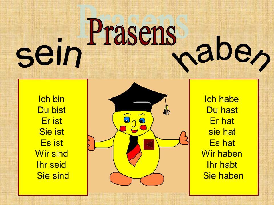 Sein и haben в Prasens Перфекту помогают.Но перевод они здесь совсем не получают .