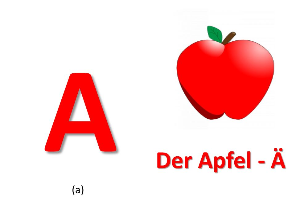 A Der Apfel - Ä (a)