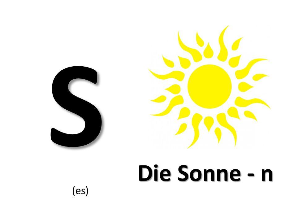 S (es) Die Sonne - n