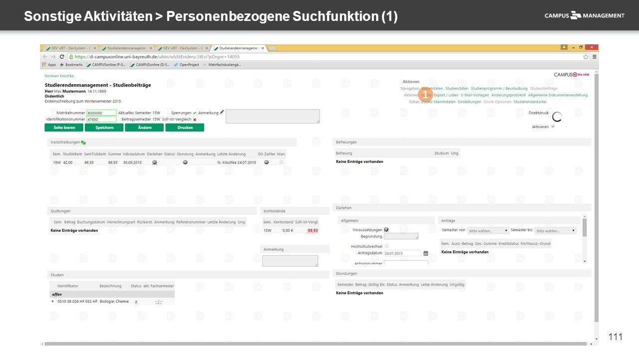 111 Sonstige Aktivitäten > Personenbezogene Suchfunktion (1) 1