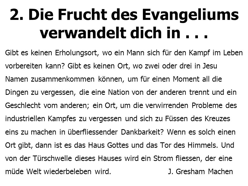 3.Ermutigung fliesst. 1. Was ist biblische Ermutigung.