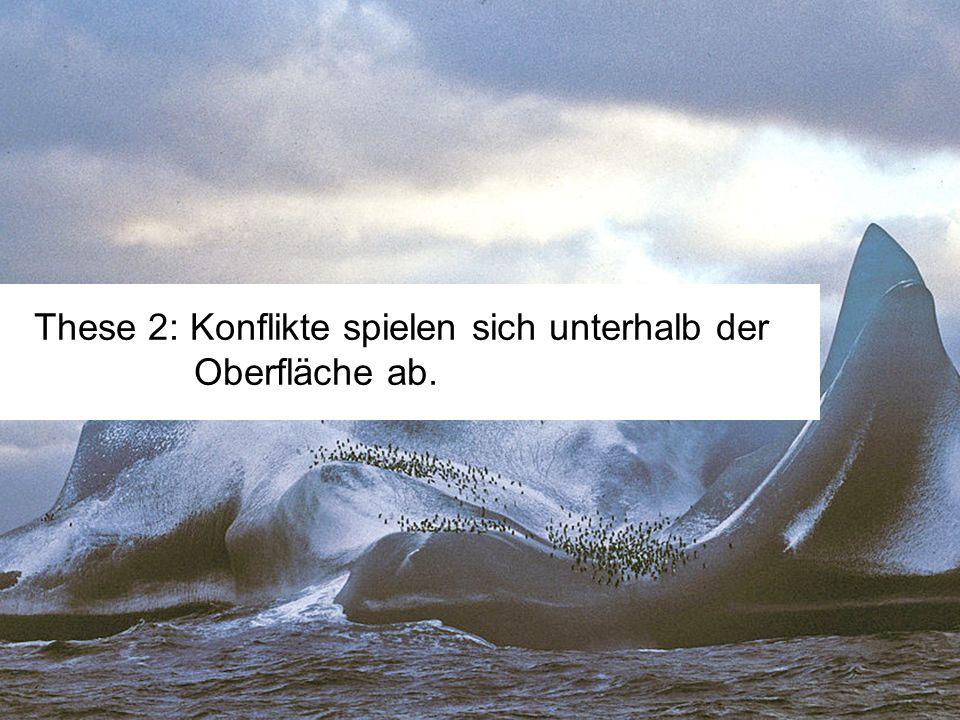 These 2: Konflikte spielen sich unterhalb der Oberfläche ab.