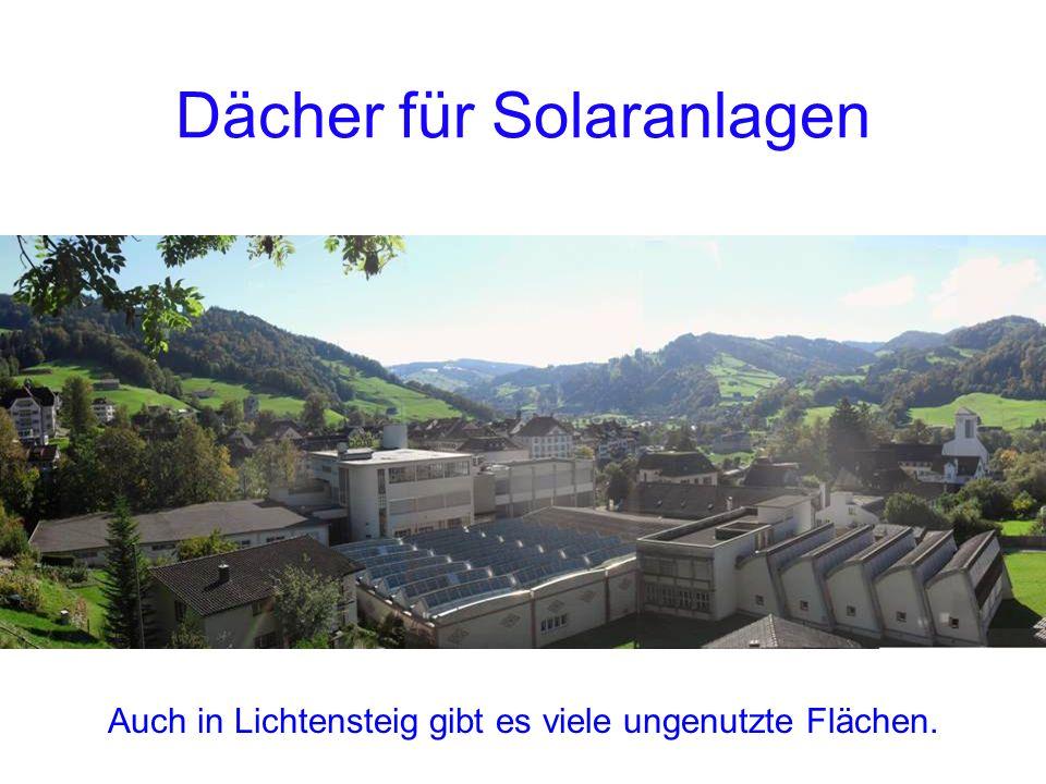 Dächer für Solaranlagen Auch in Lichtensteig gibt es viele ungenutzte Flächen.