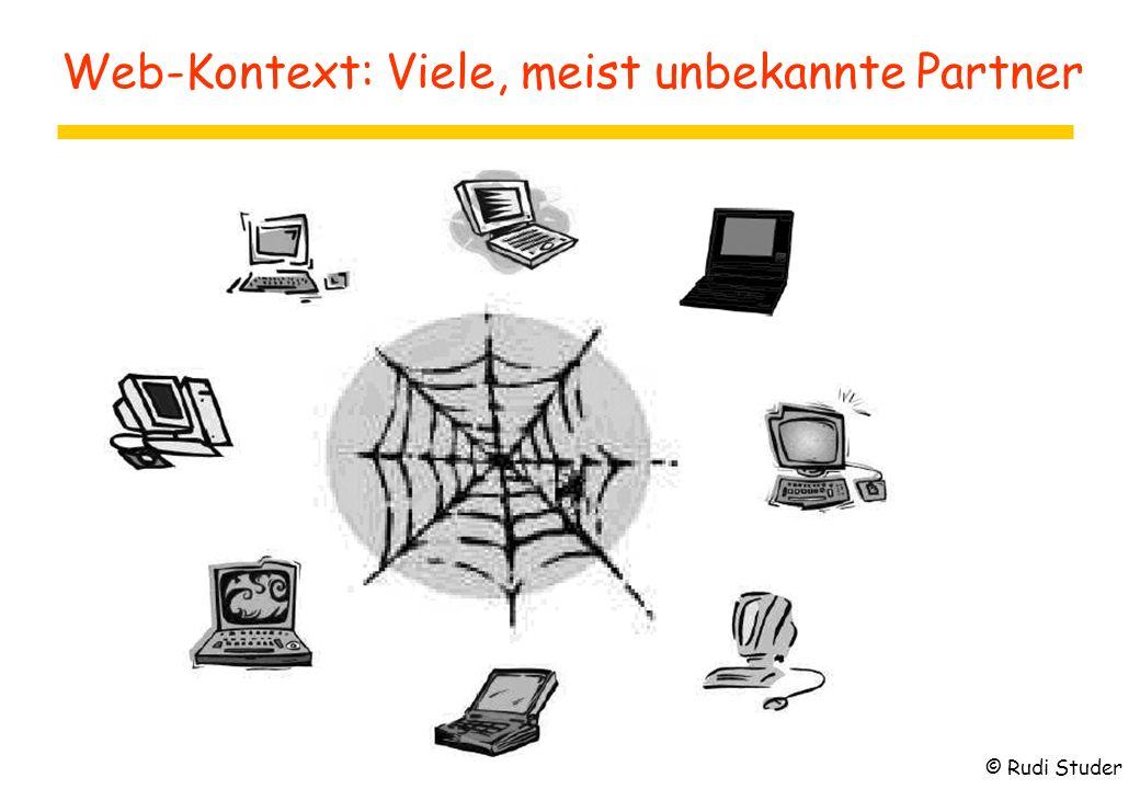 Web-Kontext: Viele, meist unbekannte Partner © Rudi Studer