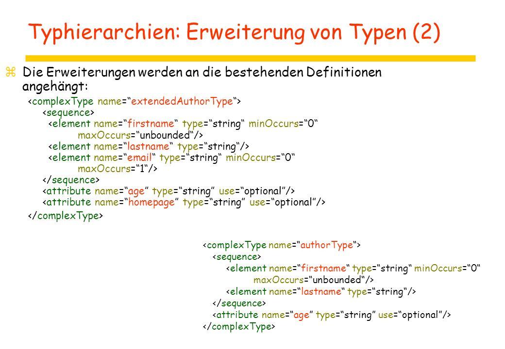 zDie Erweiterungen werden an die bestehenden Definitionen angehängt: Typhierarchien: Erweiterung von Typen (2)