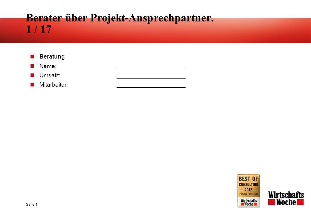 Seite 1 Berater über Projekt-Ansprechpartner.