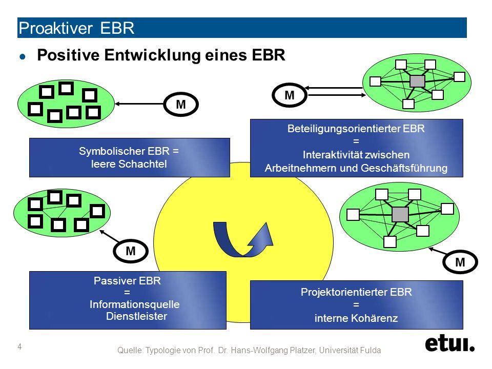 Proaktiver EBR 15 ● Leistungskennzahlen (KPI) für EBR.