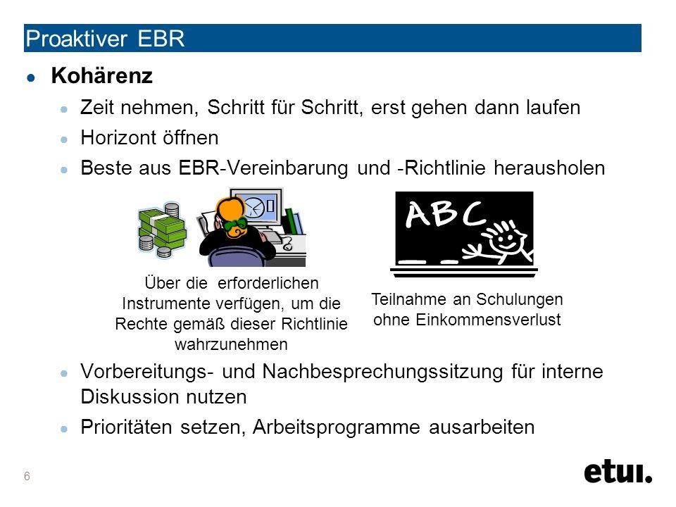 Proaktiver EBR UNTERRICHTUNG & ANHÖRUNG 17