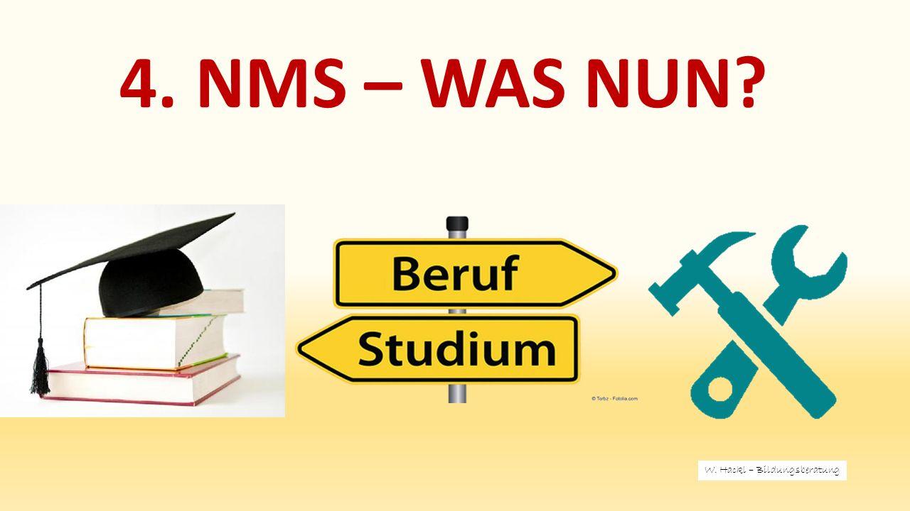 4. NMS – WAS NUN W. Hackl – Bildungsberatung