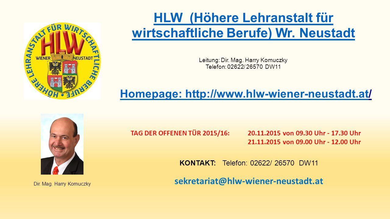 HLW (Höhere Lehranstalt für wirtschaftliche Berufe) Wr.