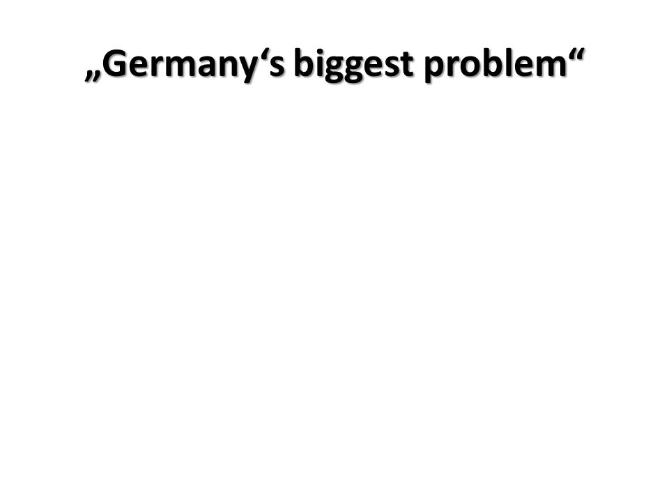 """Germany's biggest problem"""
