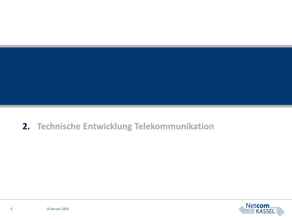 513 January 2016 2.Technische Entwicklung Telekommunikation