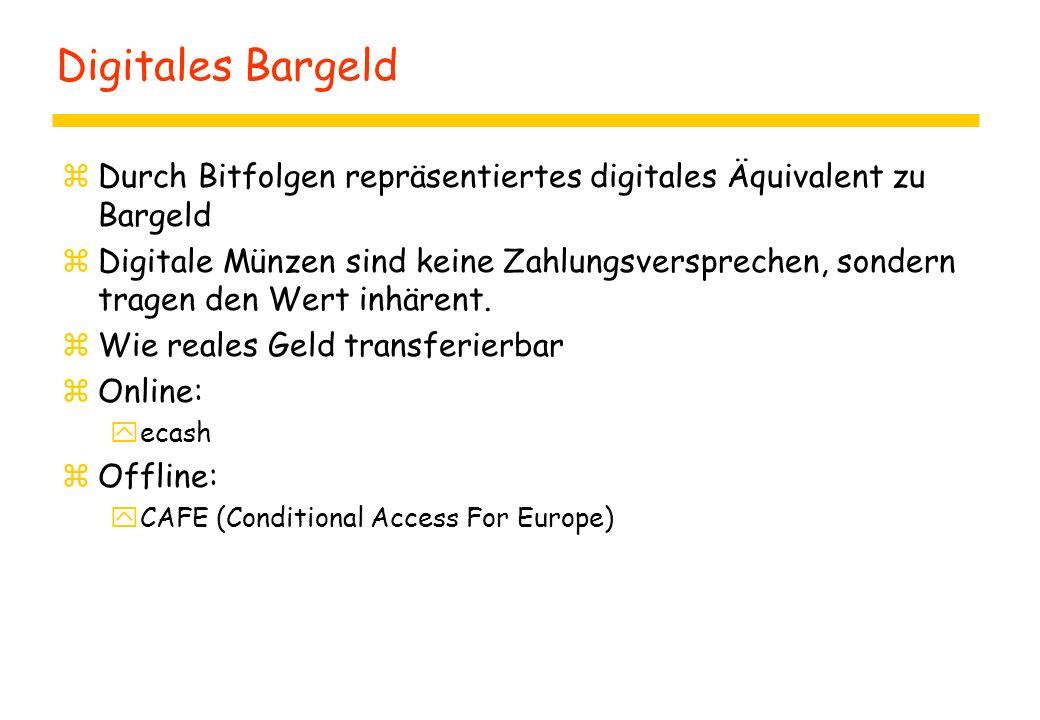 Digitales Bargeld zDurch Bitfolgen repräsentiertes digitales Äquivalent zu Bargeld zDigitale Münzen sind keine Zahlungsversprechen, sondern tragen den