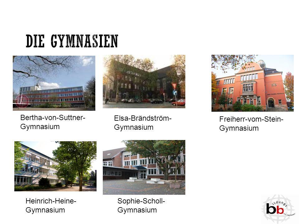 Bertha-von-Suttner- Gymnasium Elsa-Brändström- Gymnasium Freiherr-vom-Stein- Gymnasium Heinrich-Heine- Gymnasium Sophie-Scholl- Gymnasium 19