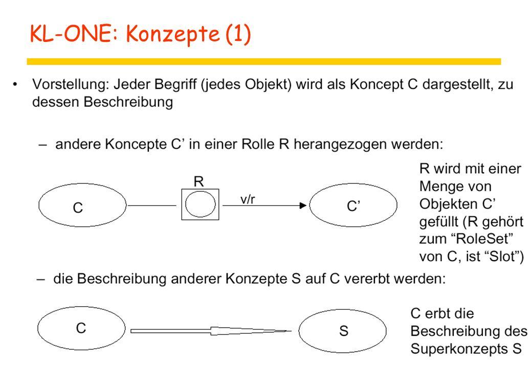 KL-ONE: Konzepte (1)