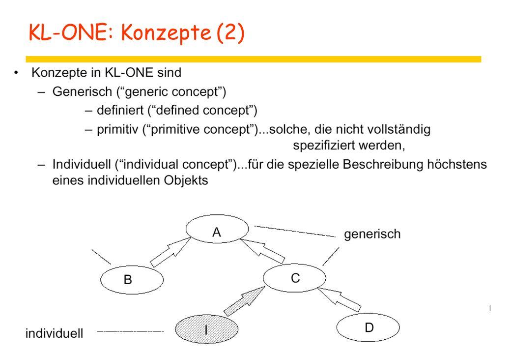 KL-ONE: Konzepte (2)