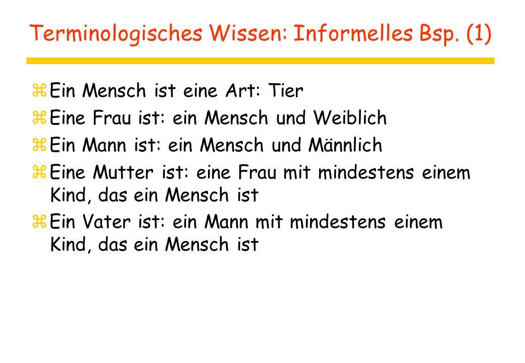 Terminologisches Wissen: Informelles Bsp.