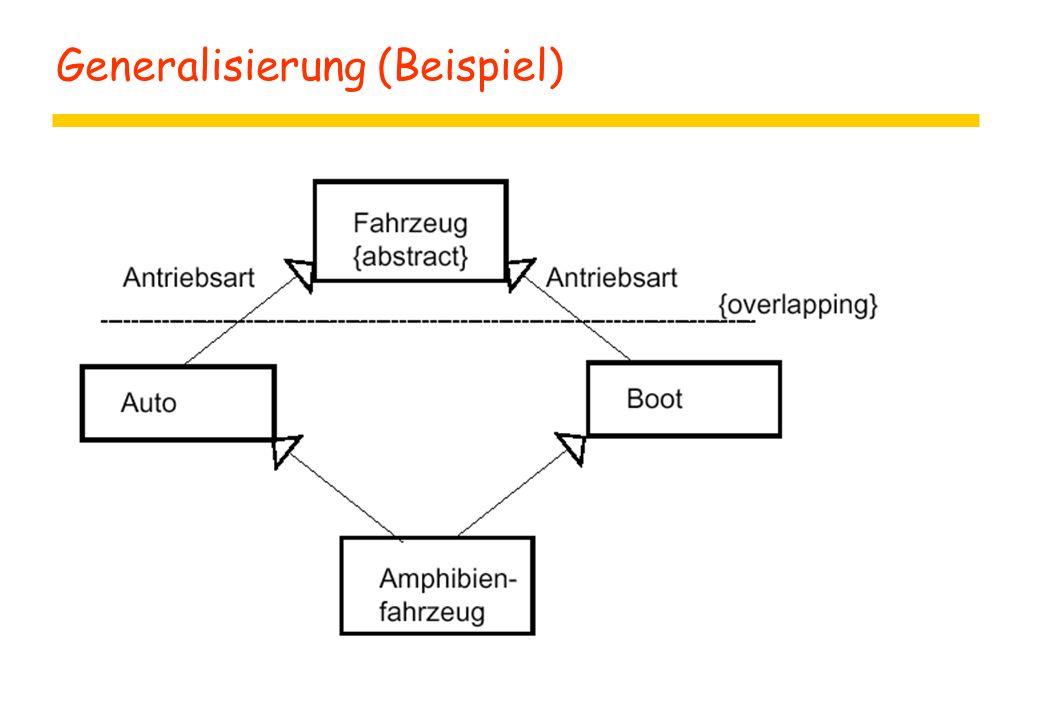 Generalisierung (Beispiel)