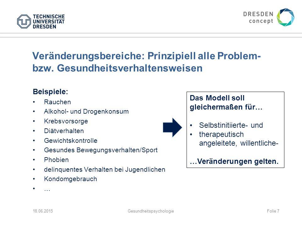 Veränderungsbereiche: Prinzipiell alle Problem- bzw.