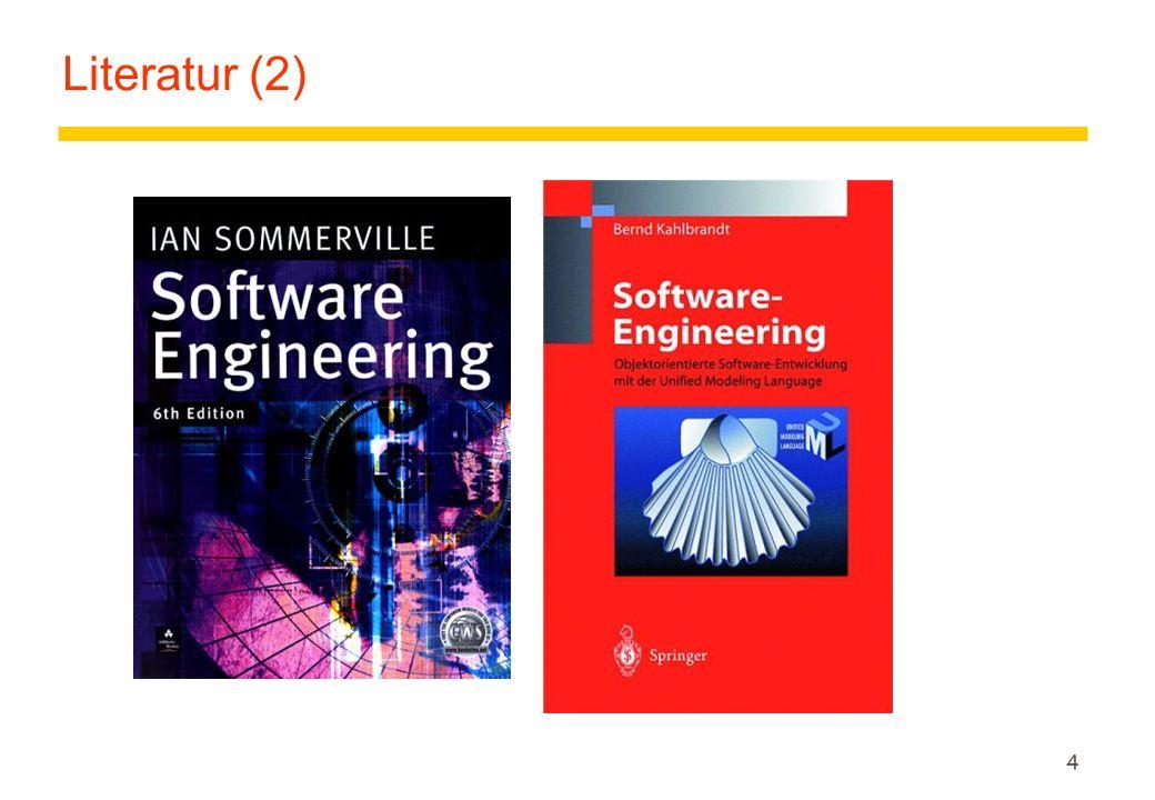 5 Vorlesung Software-Engineering zLernziele der Vorlesung allgemein: yFundamente: Überblicke, Grundprinzipien über die systematische, ingenieurmäßige Softwareentwicklung yGrundlagen der Informatik: Techniken und Methoden der SW-Entwicklung zLernziele heute: yEinführung in das Gebiet Software-Engineering yGrundlagen und Probleme ySoftware-Qualität