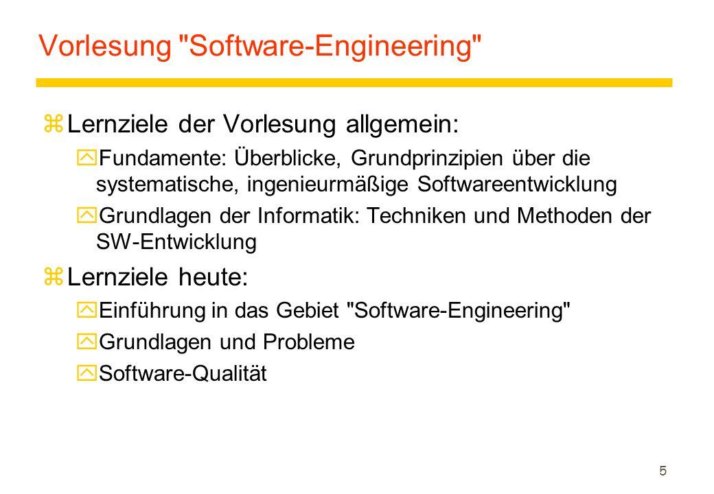 26 Modelle zModelle sind die Voraussetzung für die Entwicklung von Software zDie Fähigkeit zur Bildung und kompetenten Handhabung von Modellen ist die Anforderung an Informatiker