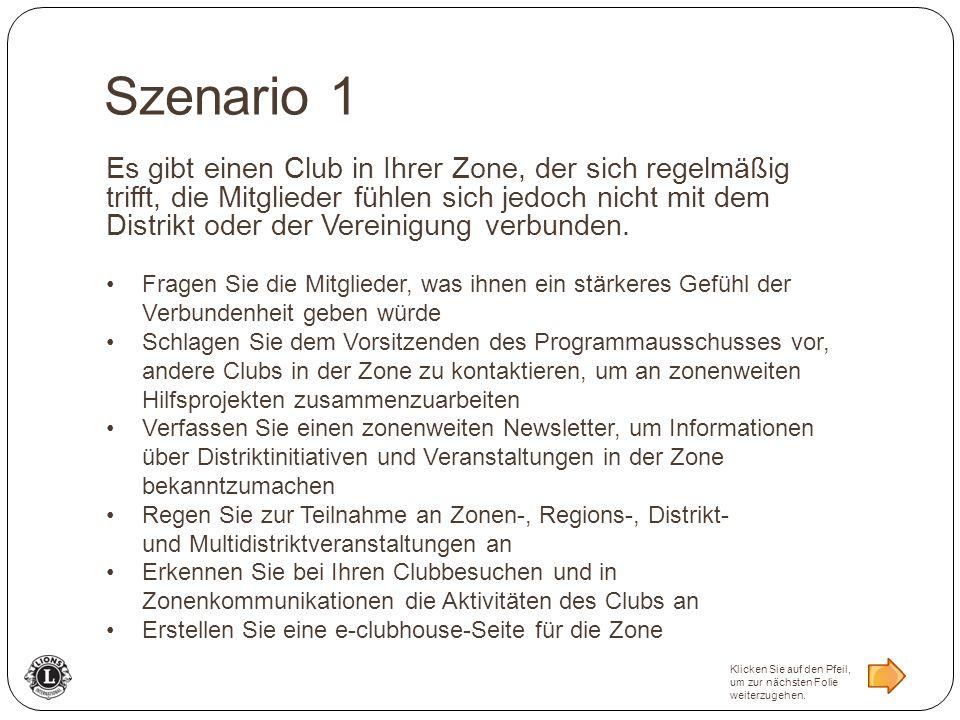 Es gibt einen Club in Ihrer Zone, der sich regelmäßig trifft, die Mitglieder fühlen sich jedoch nicht mit dem Distrikt oder der Vereinigung verbunden.