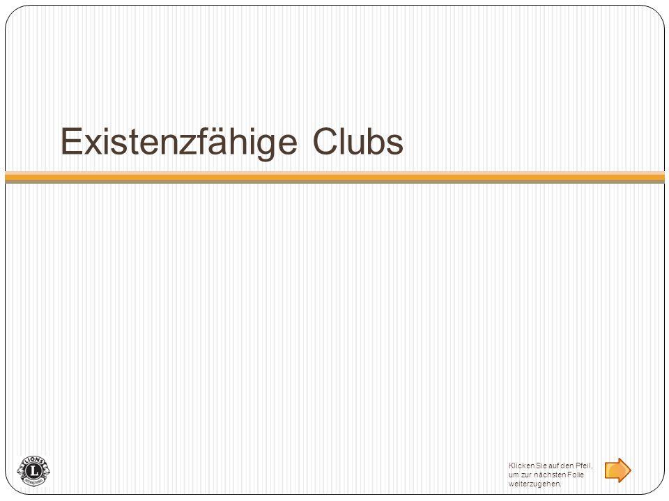 Existenzfähige Clubs Klicken Sie auf den Pfeil, um zur nächsten Folie weiterzugehen.
