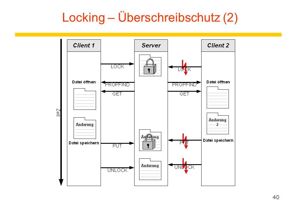 40 Locking – Überschreibschutz (2)