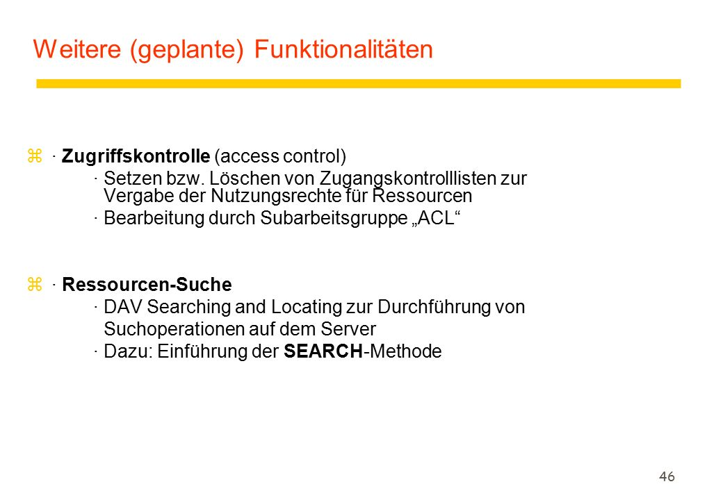 46 z· Zugriffskontrolle (access control) · Setzen bzw.