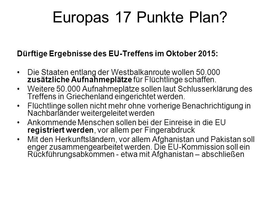 Europas 17 Punkte Plan.