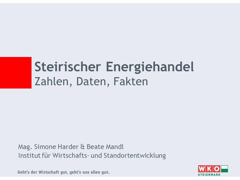 Mag. Simone Harder & Beate Mandl Institut für Wirtschafts- und Standortentwicklung Steirischer Energiehandel Zahlen, Daten, Fakten
