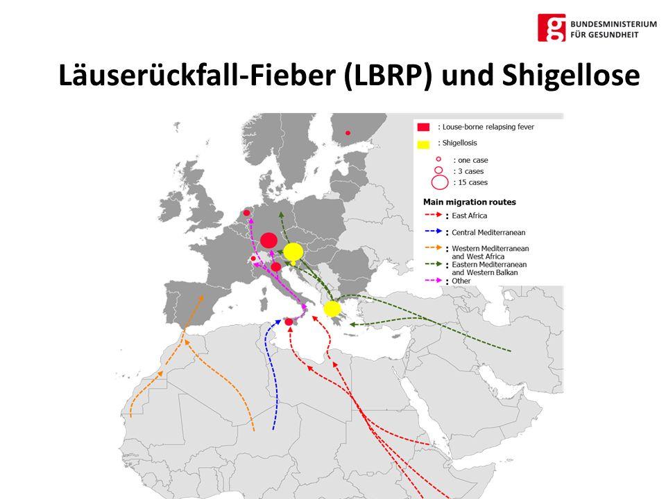Läuserückfall-Fieber (LBRP) und Shigellose