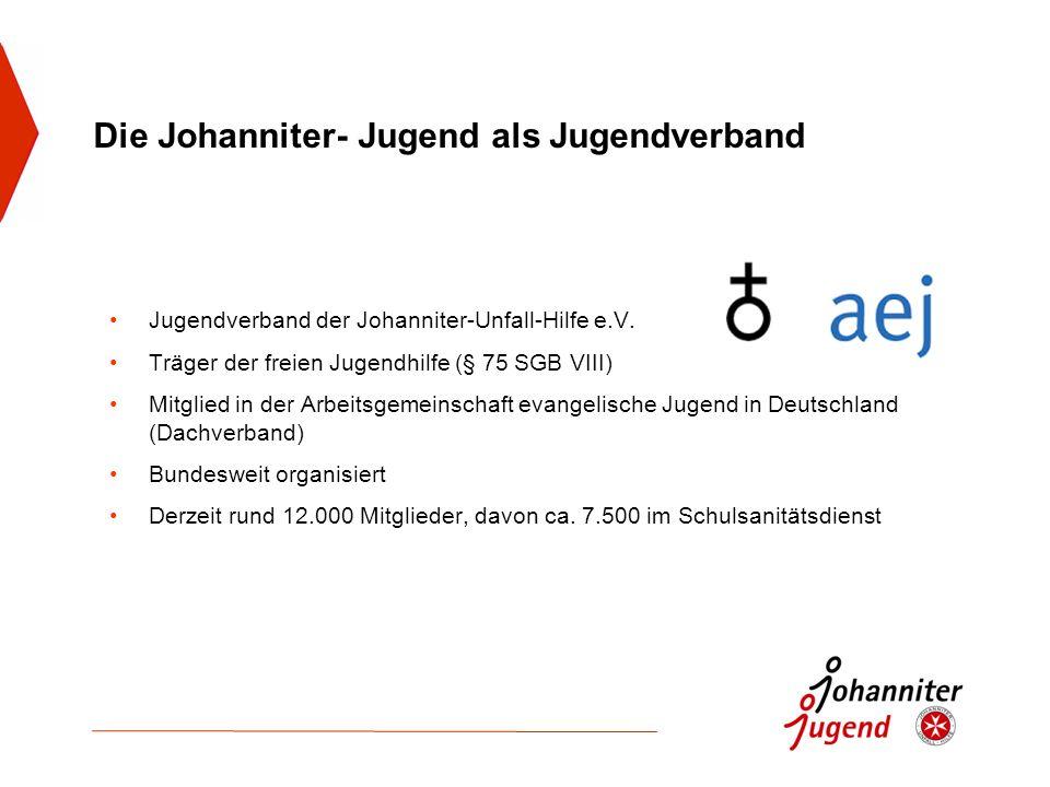 Die Johanniter- Jugend als Jugendverband Jugendverband der Johanniter-Unfall-Hilfe e.V. Träger der freien Jugendhilfe (§ 75 SGB VIII) Mitglied in der