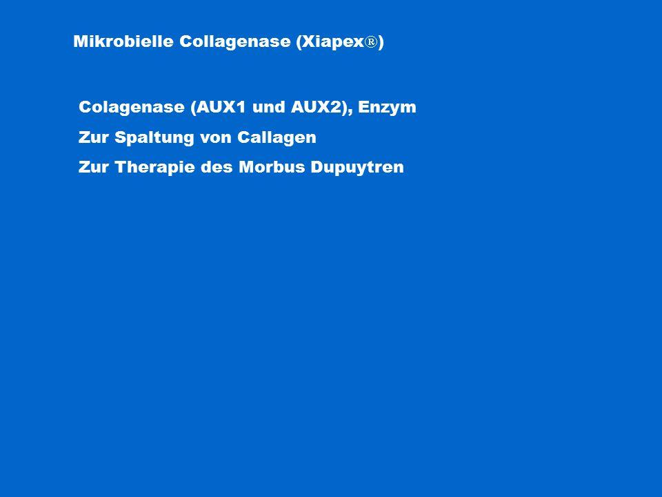 Mikrobielle Collagenase (Xiapex  ) Colagenase (AUX1 und AUX2), Enzym Zur Spaltung von Callagen Zur Therapie des Morbus Dupuytren