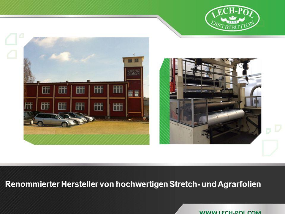 Renommierter Hersteller von hochwertigen Stretch- und Agrarfolien