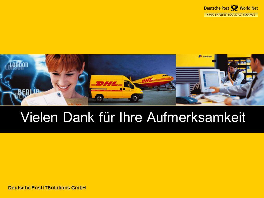 Deutsche Post ITSolutions GmbH Vielen Dank für Ihre Aufmerksamkeit