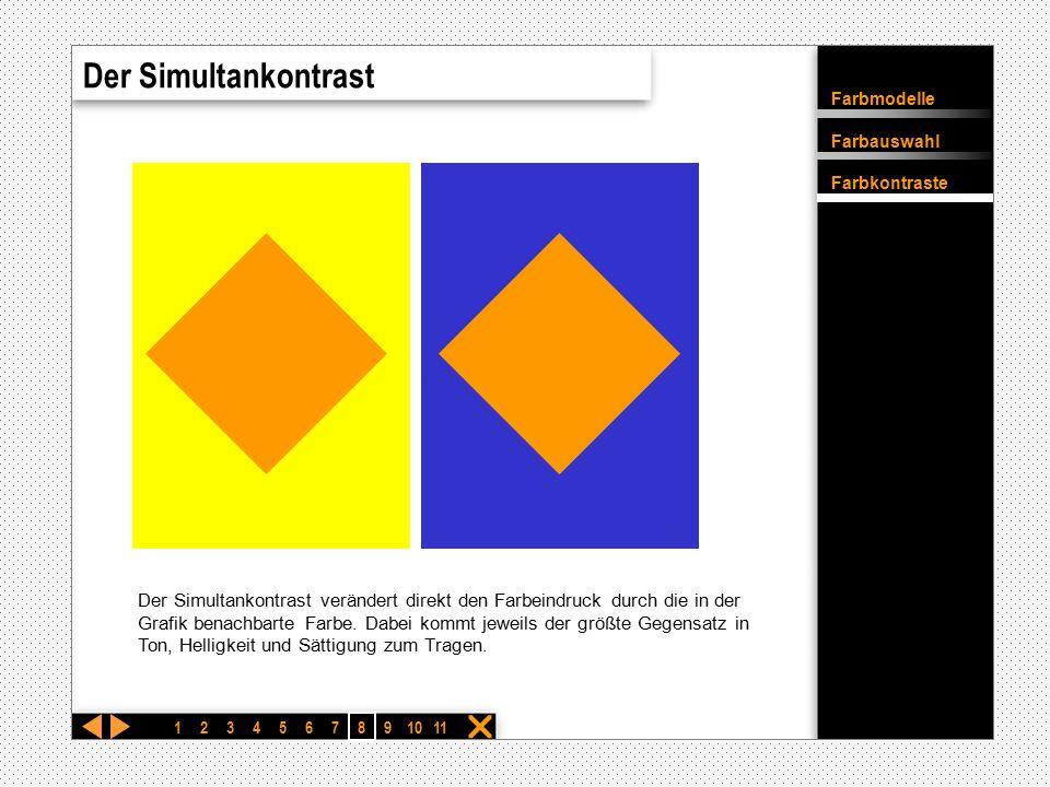 Farbmodelle Farbauswahl Farbkontraste  Exit Bewegte Markierungen Intro Anwendung 1 Anwendung 2 Anwendung 3 Intro Anwendung 1 123456 7 891011 Exit Anw