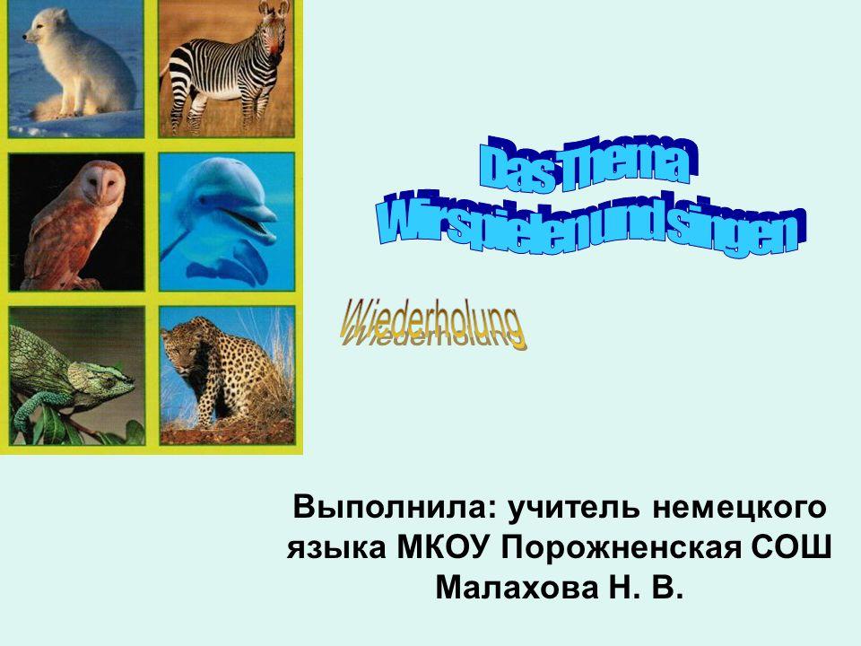 Die Ziele Wir wiederholen den Reim «In den Zoo gehen wir»; Wir singen die Lieder; Wie heissen die Tiere auf Deutsch.