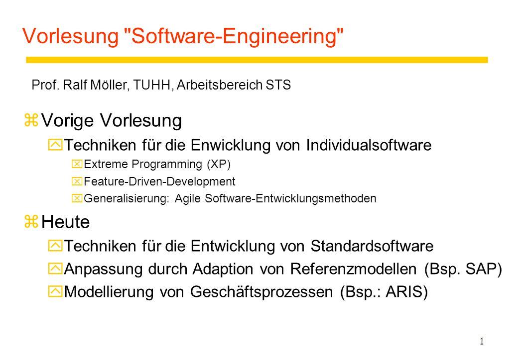 2 Motivation zStandardsoftware bietet eine Möglichkeit teure Individualsoftware zu ersetzen zDie Einführung von Standardsoftware kann durch Vorgehensmodelle für die Softwareentwicklung unterstützt werden