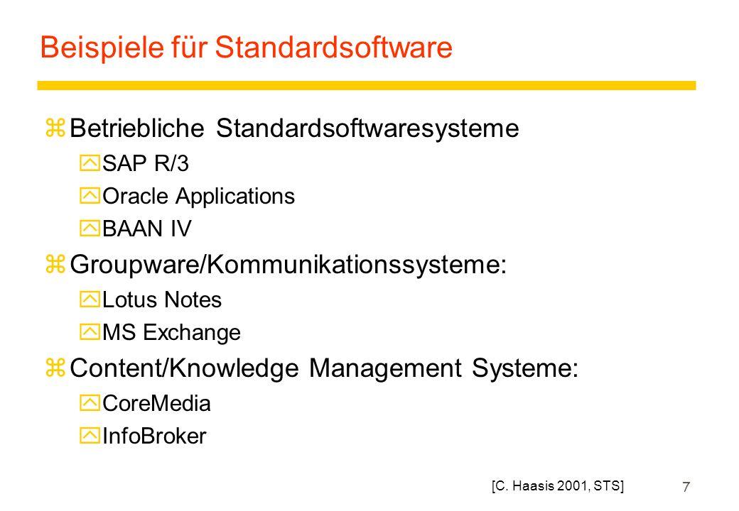 8 30 Jahre SAP Susanne Strahringer, Wirtschaftsinformatik, SoSe 03