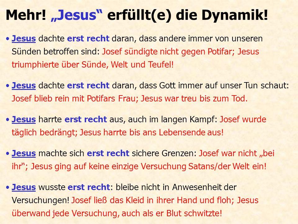 """Mehr! """"Jesus"""" erfüllt(e) die Dynamik! Jesus dachte erst recht daran, dass andere immer von unseren Sünden betroffen sind: Josef sündigte nicht gegen P"""