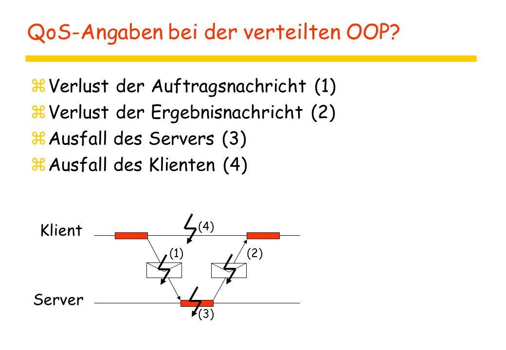 QoS-Angaben bei der verteilten OOP.