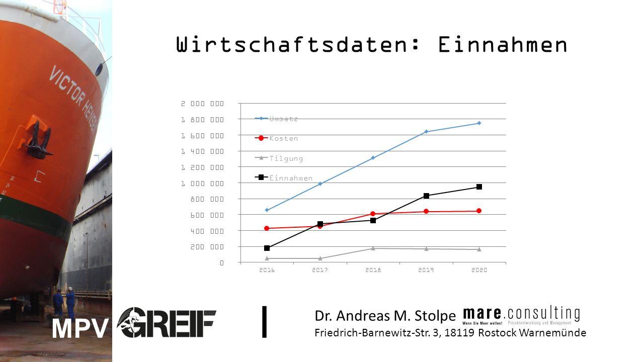 Wirtschaftsdaten: Einnahmen Dr. Andreas M. Stolpe Friedrich-Barnewitz-Str.