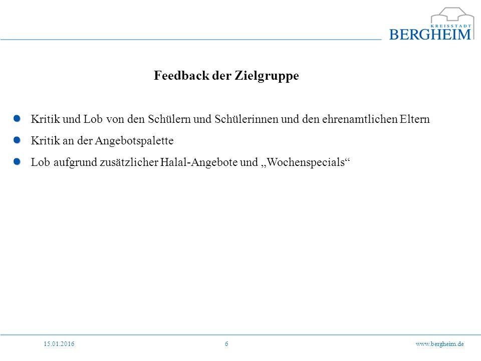 15.01.2016www.bergheim.de7 Feedback von allen Seiten Kritik von beiden Seiten wurde bezüglich des gegenseitigen Umgangs miteinander geäußert.