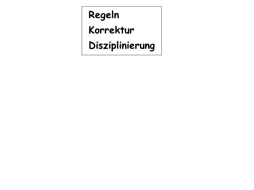 Regeln Korrektur Disziplinierung