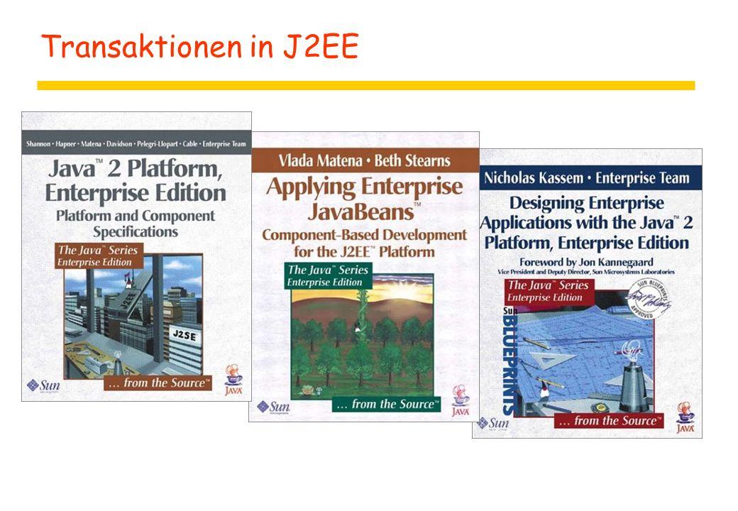 Transaktionen in J2EE
