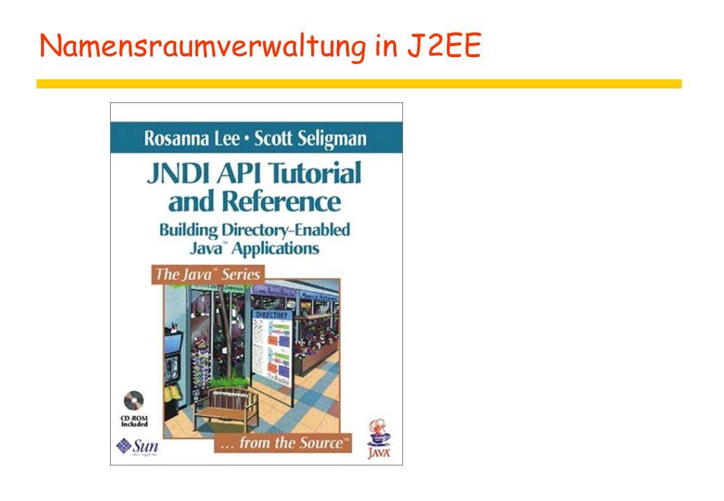 Namensraumverwaltung in J2EE