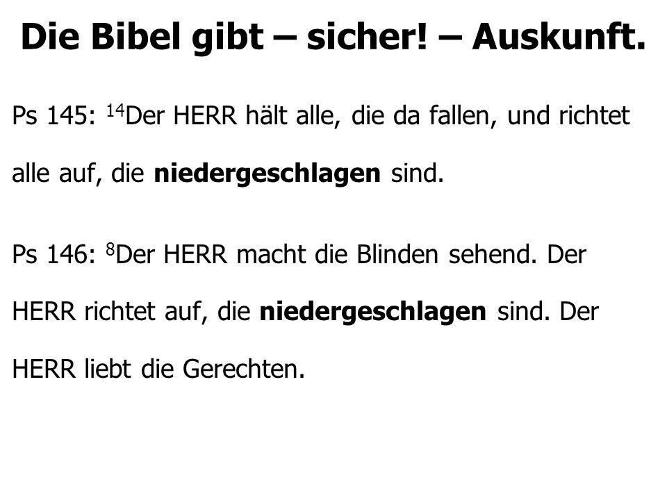 Die Bibel gibt – sicher.– Auskunft. Satan will die Fragen stellen – in seinen Worten.