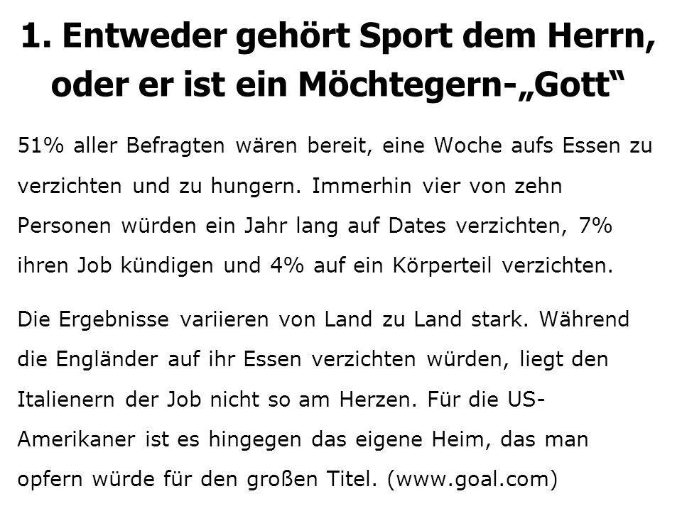 "1.Sport: Gottes od. Möchtegern-""Gott Richtig jubeln bei der WM:..."