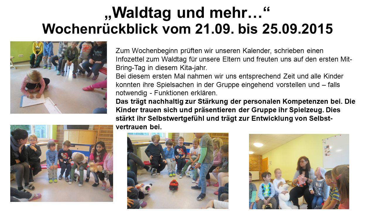 """""""Waldtag und mehr… Wochenrückblick vom 21.09."""